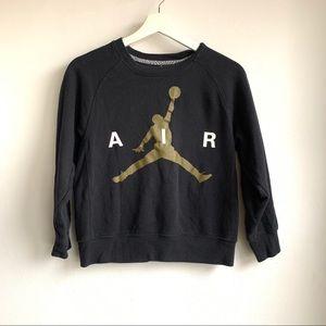 Air Jordan black and gold jump man sweatshirt